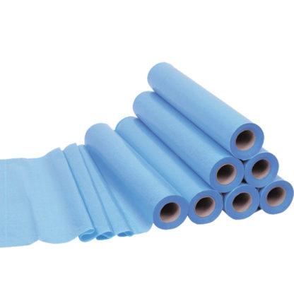 Draps examen ouate bleue plastifiée