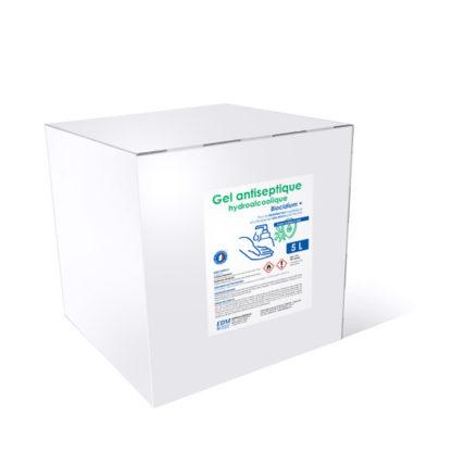 Boîte cubitainer 5 L gel hydroalcoolique biocidium