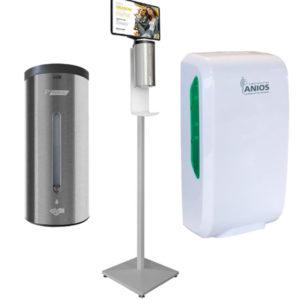 Distributeurs gel hydroalcoolique ou savon
